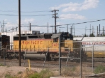UP 3481 leads an EB work train at 5:10pm