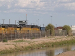 UP 8634 #4 power in a WB intermodal at 5:12pm