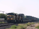 UP 5299 leads a WB intermodal at 9:41am