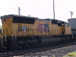 UP 4979 #3 power in a WB intermodal at 9:41am