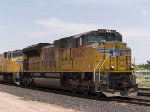 UP 8443 leads an EB intermodal at 12:33pm