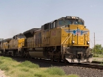 UP 8415 leads an EB intermodal at 10:55am