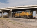 UP 4273 leads a WB autorack at 4:29pm