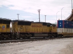 UP 4855 #3 power in an EB intermodal at 11:55am