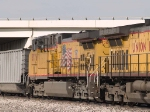 UP 5776 #2 power in a WB coal train at 5:01pm (tied down)