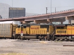 UP 4034 #4 power in an EB intermodal at 11:04am