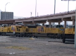 UP 8409 #2 power in a WB intermodal at 2:11pm