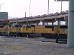 UP 4100 #3 power in a WB intermodal at 2:11pm