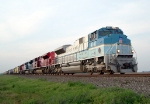 Southbound Manifest With the Bush 41, MKT, and MP Heritage Locomotives and a CP Rail