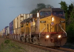 Southbound Intermodal With Operation Lifesaver UP 3459 SD40-2