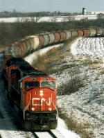 CN 5775 leads a Potash train.