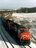CN 5775 leads a Potash train