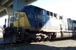 CSX 601 Rests under the I64 bridge