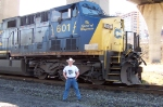 Me wearing my CSXT 601 shirt while being in front of the 601