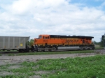 BNSF 5830 Aids the Movement of a Train of Westbound Empties