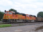 BNSF 8264 Heads West With Empties