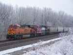 BNSF 7579 & an Unusual Guest (FXE 4547) Slowly Proceed with a Southbound Grain Haul