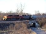 BNSF 871 Leads a Manifest Train West Toward Lincoln