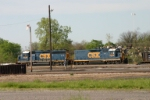CSX 6439 and slug at work