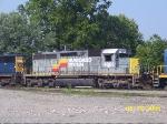 CSXT 4601 in SBD paint (yellow CSX ends)