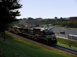 NS 9847 brings in the Sunday morning freight through JMU