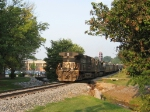 NS 9137 & 8693, just passing thru JMU in the early morninig sun
