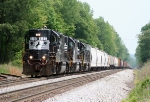 P61 clamors up Yadkin Hill with 3 GP38-2s