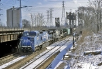 Conrail 8450 desending downgrade to the BRC Comercial Yard