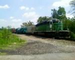 CEFX 7092 an ex BN loco leading a generator train