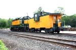 HRRC 3600 and caboose 654 in the yard