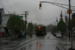 NYGL 1267 and NYGL 1268 pull a cut of cars down Monroe Street