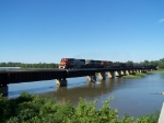 BNSF Empties Crossing the Platte River