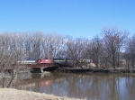 ICE 6444 Leads Mixed Freight Over the Maquoketa River