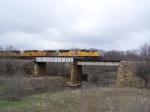 A Hotshot Autorack Train Crosses the Mason City Sub