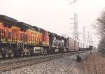 BNSF 4845 & NS 7114