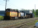 CSX 9120 & 1177 bringing Y290 down the main after switching on the Acme Spur