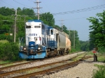 MMRR 24 on its way to Ionia, passing the Ada siding & the switch to the Amway Spur