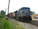 CEFX 1057 & SOO 6028 leading X500-30 through Plaster Creek