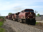 CP 9649 & 9616 charging east out of the sag with X500-09
