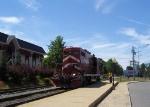 Backing toward the train