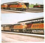 BNSF 6186 and BNSF 5974 lead a southbound coaltrain