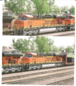 BNSF 6228 and BNSF 6227 return day later on a westbound freight