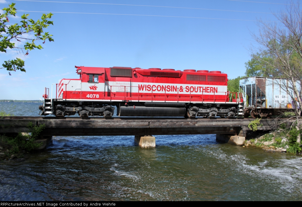 Slow train over fast water