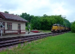 UP 2967 leads eastbound rock loads