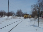 WSOR 4053 on the J2 in the snow