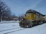 """Ol' Mr. Mustard"" WSOR 4053 approaching Williams Drive bound for Janesville"