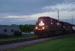 Detoured CP 8616 races the darkness towards Janesville