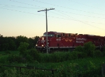 CP 8852 chugging upgrade approaching Newville Road