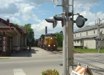 UP 9446 passing the old passenger depot with the CP detour train