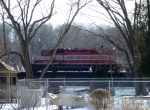 WSOR 4076 on the Rock River bridge